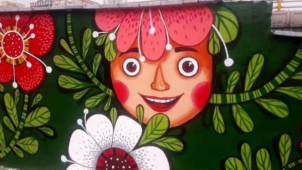 چشم نوازی دیواره ها و المان های  رنگی در شمال شرق پایتخت