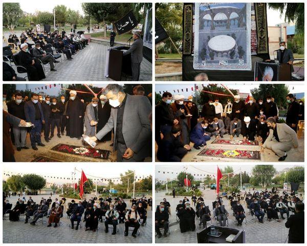 برپایی مراسم آغاز به کار احداث مقبره الشهدای بوستان والفجر منطقه ۱۵