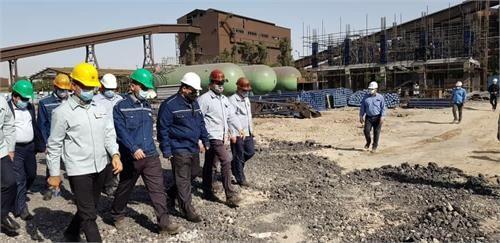 بازدید مدیرعامل و هیات همراه از بخش های مختلف شرکت فولاد خوزستان