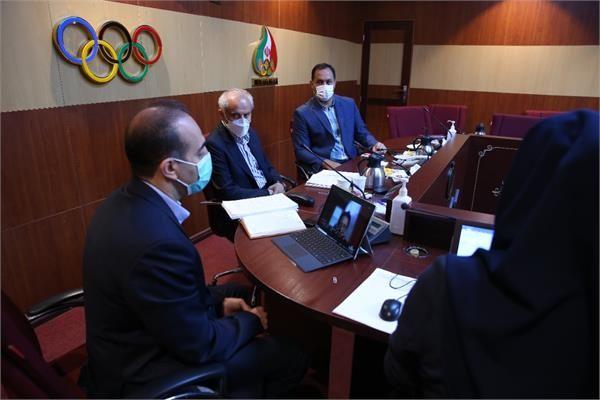 نشست کادر سرپرستی کاروان ورزشی اعزامی ایران با ستاد برگزاری بازیها