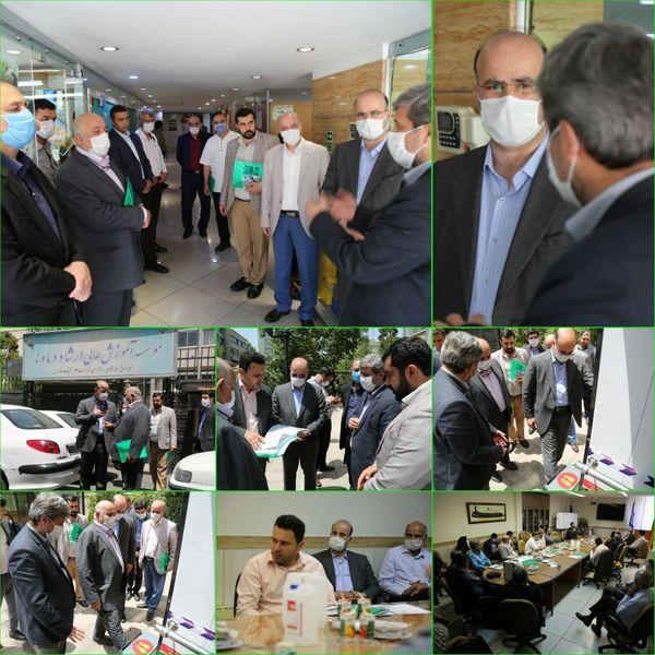 رونمایی از نخستین تونل ضدعفونی هوشمند دنیا در خیابان وصال شیرازی