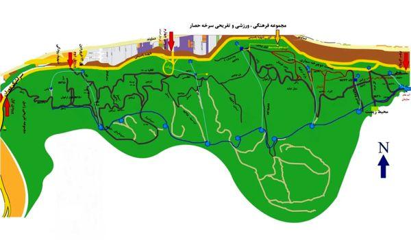 توسعه شبکه آبیاری مکانیزه در بوستان جنگلی سرخه حصار