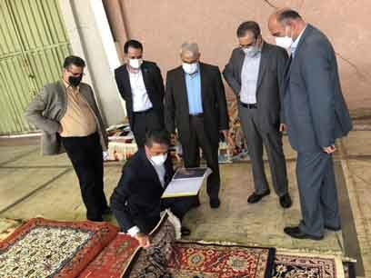 بازدید مدیر عامل موسسه اعتباری ملل از کارخانجات شرکت سهامی فرش ایران