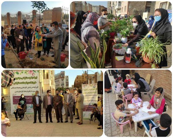 ایجاد باغچه های همسایگی در مجتمع مبعث منطقه 15