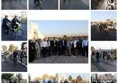 عزیمت به محل خدمت با دوچرخه در سردترین فصل سال