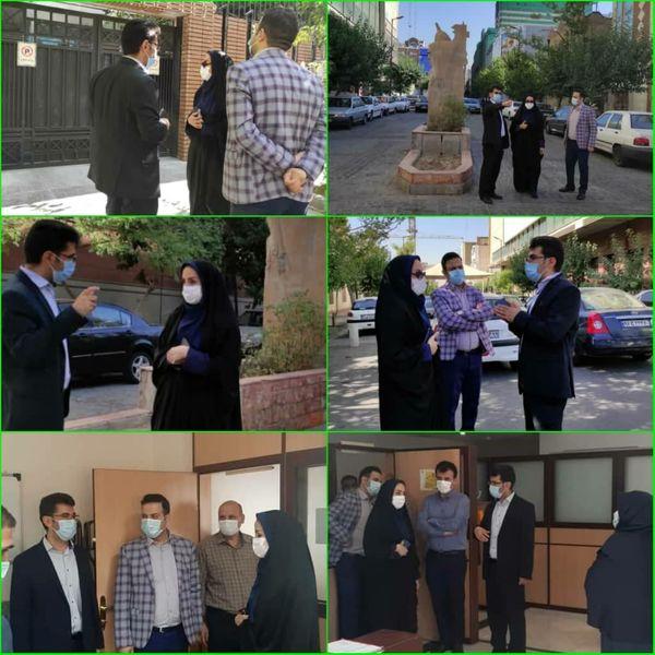 بازدید معاون شهردار منطقه۶ از پروژه های محلی سطح ناحیه یک