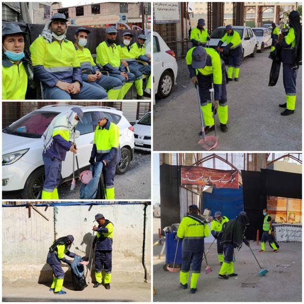 خدمات نظافتی تیم اعزامی منطقه ۶ به کشور عراق